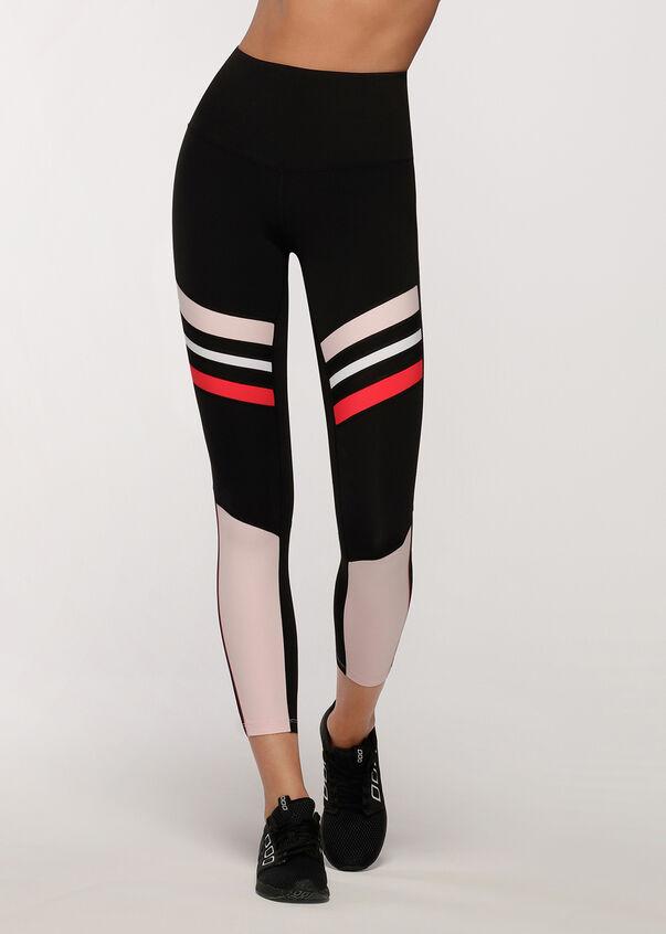 High Contrast Core Ankle Biter Leggings, Black/Pale Peony, hi-res