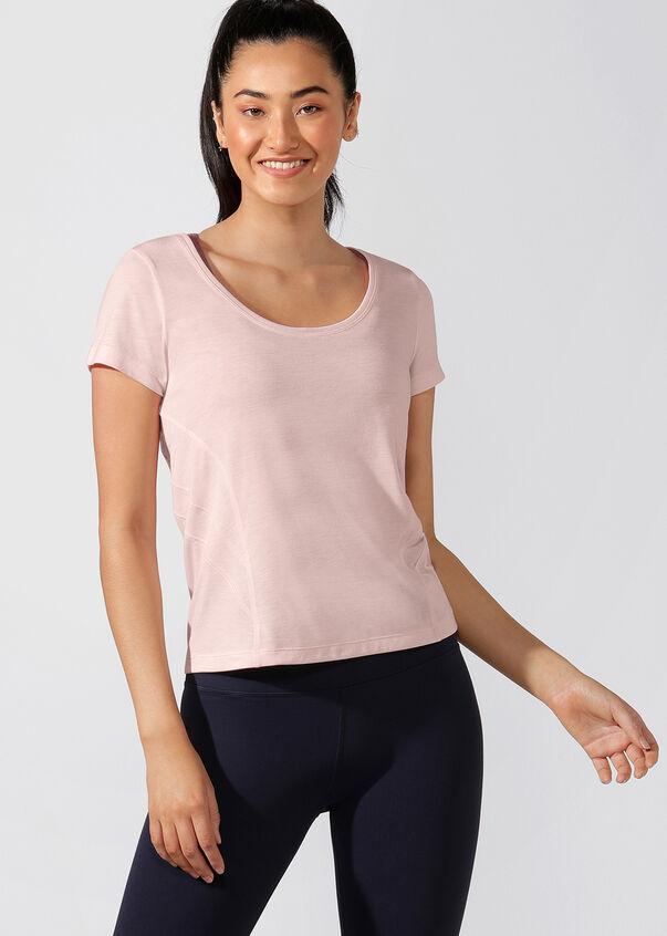 Breeze Slim Fit Active Tee, Whisper Pink Marl, hi-res