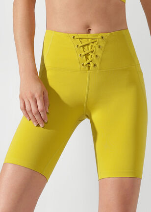 Lace Up Bike Short
