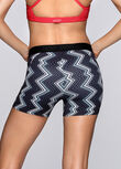 Zigzag Short Tight, Black/White, hi-res