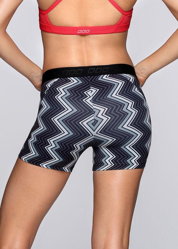Zigzag Short Tight, Black/White, hi-res