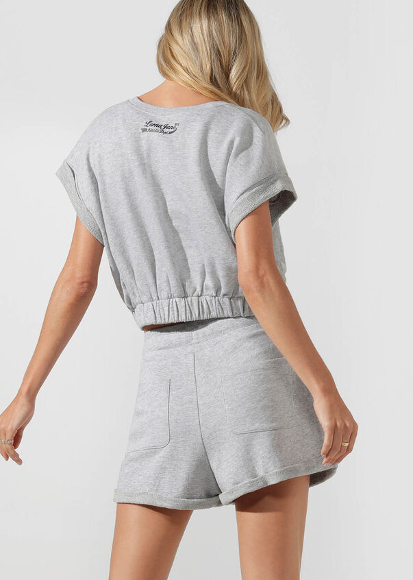 Complete Comfort Sweat Short, Grey Marl, hi-res