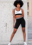 Speed Striped Short Leggings, Black, hi-res