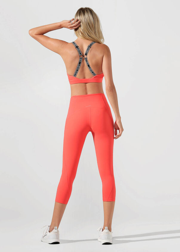 Iconic Sports Bra, Washed Coral, hi-res