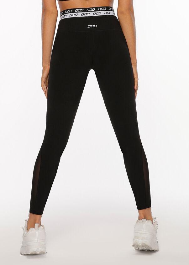 Iconic Mesh Full Length Leggings, Black, hi-res