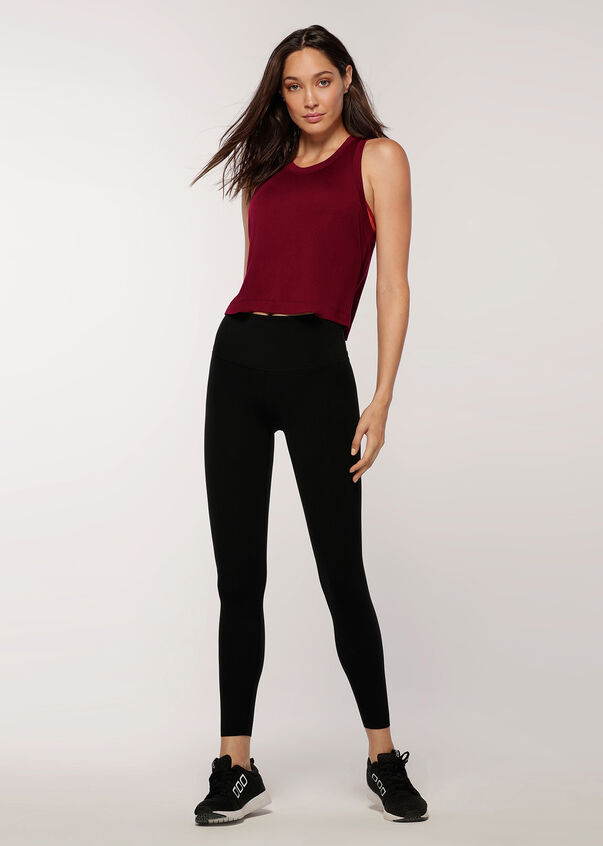 Perfect LJ Cropped Tank, Cherry, hi-res