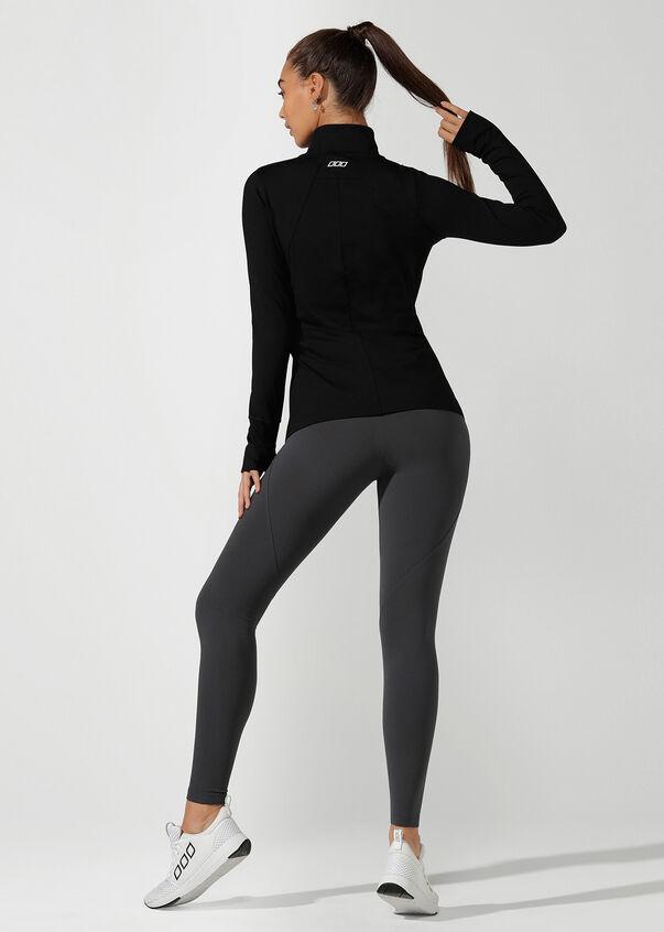 Endurance Active Zip Thru, Black, hi-res