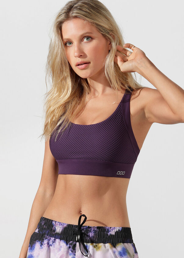 High Intensity Sports Bra, Midnight Purple, hi-res