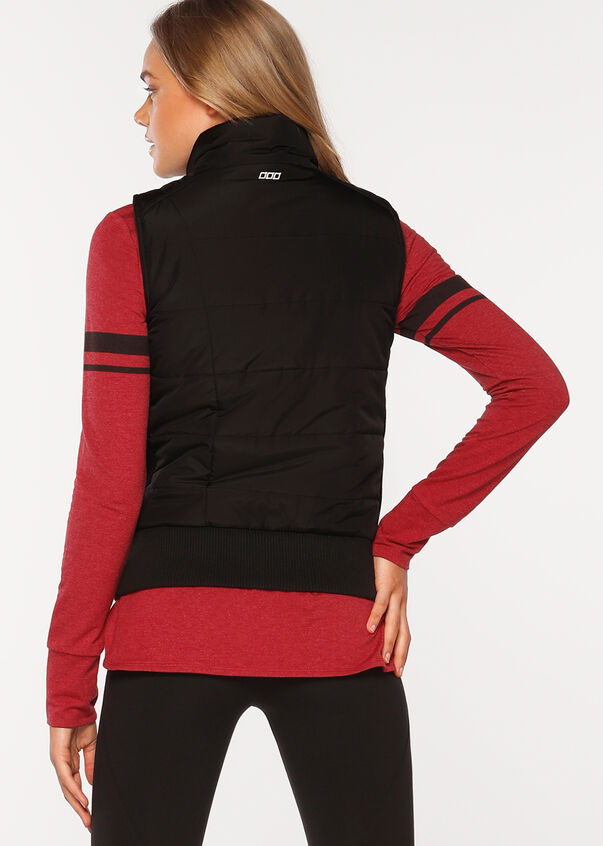 Ultimate S/Less Puffer Vest, Black, hi-res