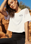 Hype Cropped Tee, White, hi-res