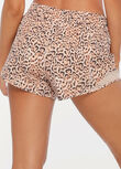 Purr-Fect Run Short, Jaguar Print, hi-res