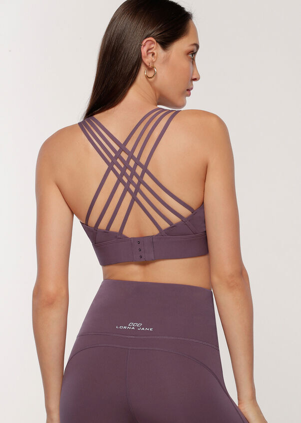 Sculpted Sports Bra, Soft Violet, hi-res