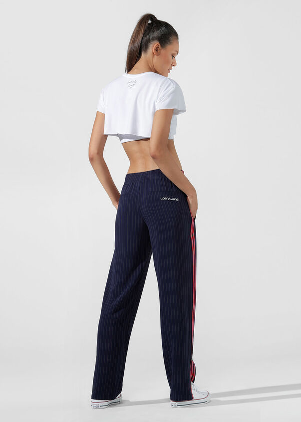 Extreme Cropped Active Tee, White, hi-res