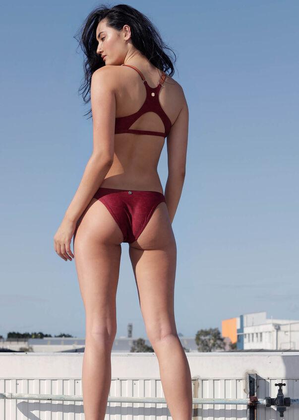 Byron Active Swim Bikini Brief, Cherry, hi-res