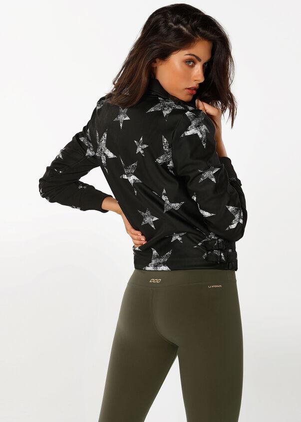 Cosmic Biker Jacket, Black, hi-res
