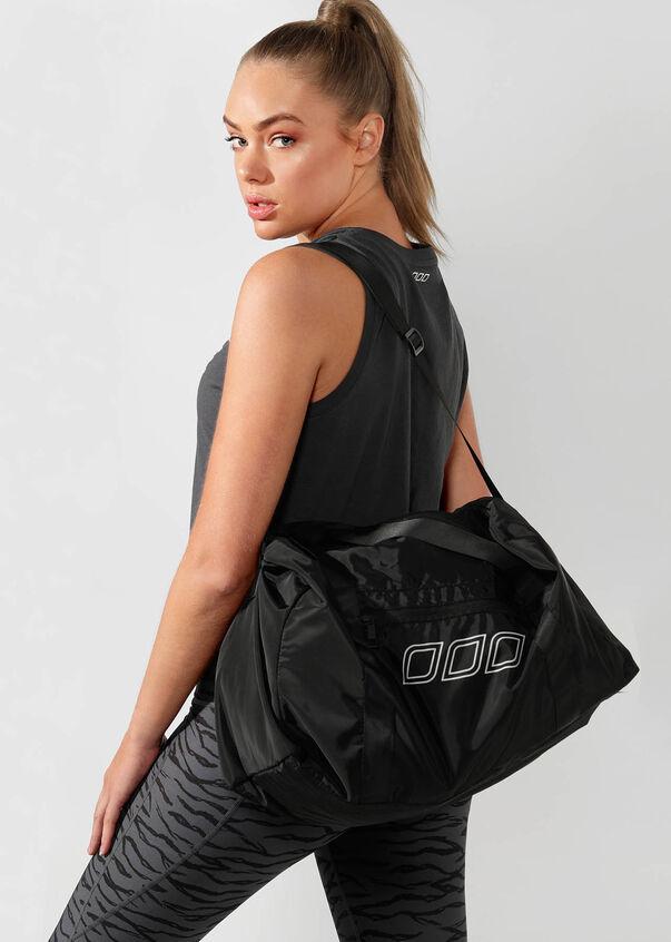 Lightweight Gym Bag, Black, hi-res