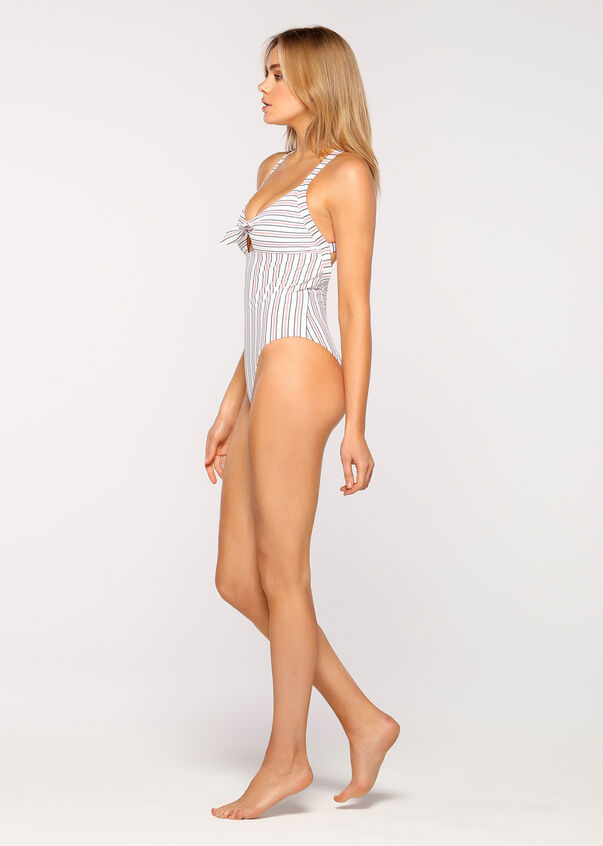 Bridgette Active Swimsuit, Resort Stripe, hi-res