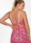 LJ Nursing Bra, Bright Zebra Print, hi-res