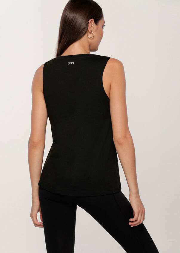 Fearlessly Female Muscle Tank, Black, hi-res