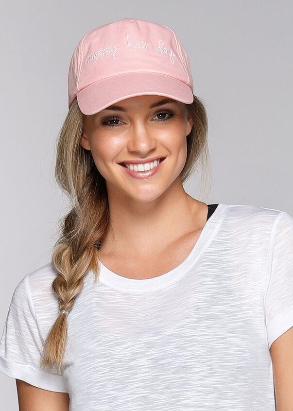 Messy Hair Cap, Blushed Pink, hi-res