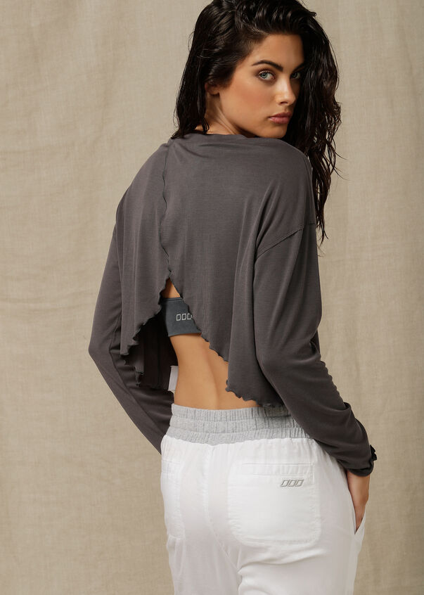 Bliss Long Sleeve Top, Titanium, hi-res