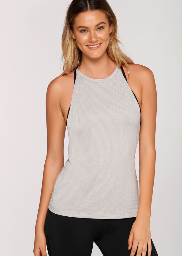 Dixie Excel Tank, Snow Grey Marl, hi-res