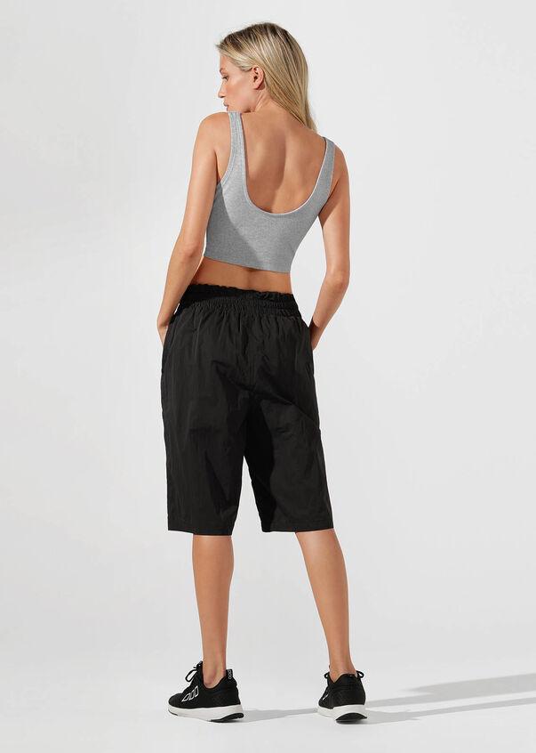 Alpha Paperbag Waist 3/4 Pant, Black, hi-res