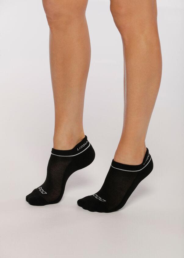 LJ Running Sock, Black/White, hi-res