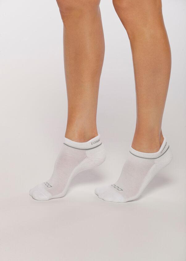LJ Running Sock, White/Nu Grey, hi-res