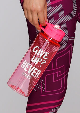 Give Up Never Water Bottle