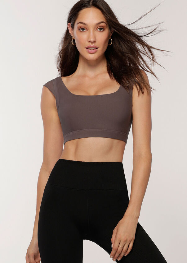 Accentuate Sports Bra, Stone, hi-res