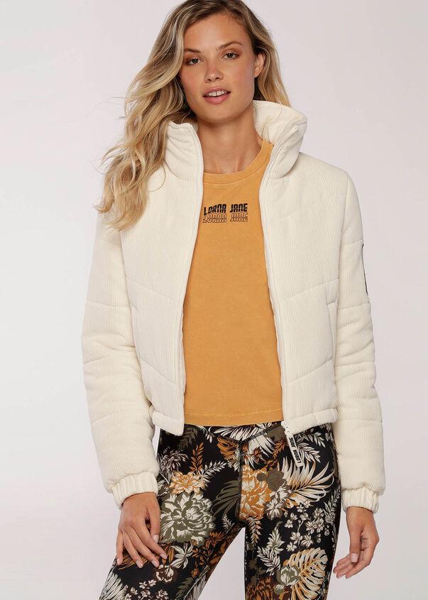 Sports Club Puffa Jacket, Cream, hi-res