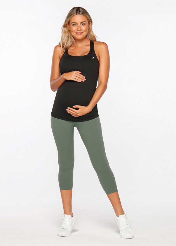 LJ Maternity 7/8 Tight, Military, hi-res