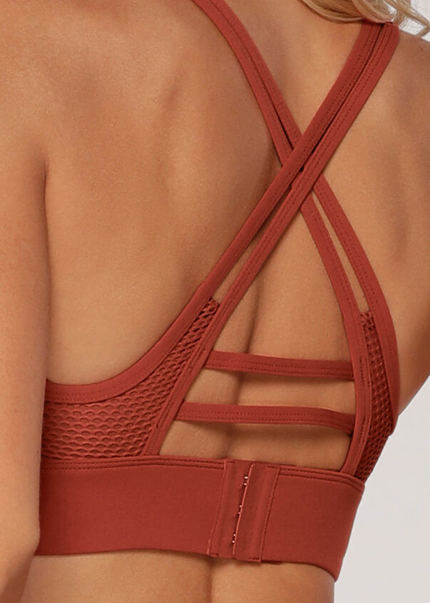 LJ Athletic Sports Bra, Copper, hi-res