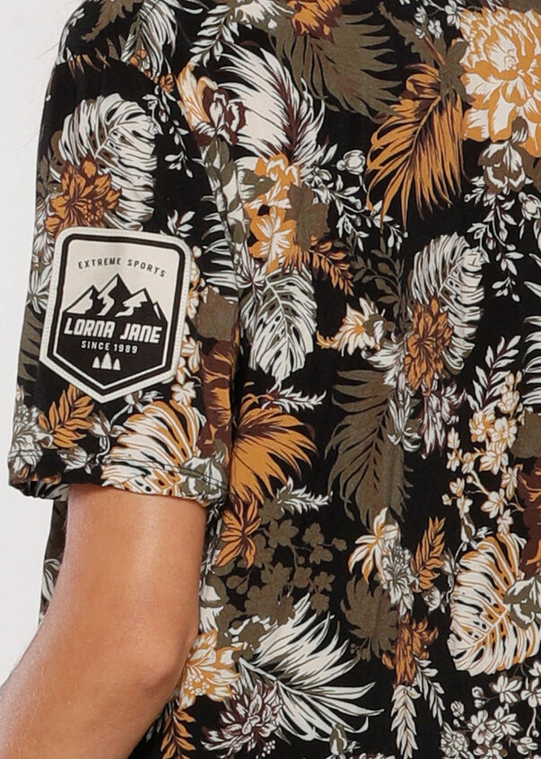 Club Leisure Camp Shirt, Retro Tropicana Print, hi-res