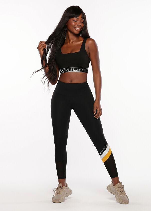 Colour Block Core Full Length Leggings, Black, hi-res