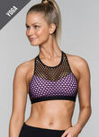 Jez Sports Bra, Black/Soft Lilac, hi-res