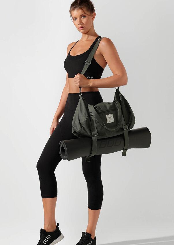 Washed Yoga Duffle Bag, Oil, hi-res