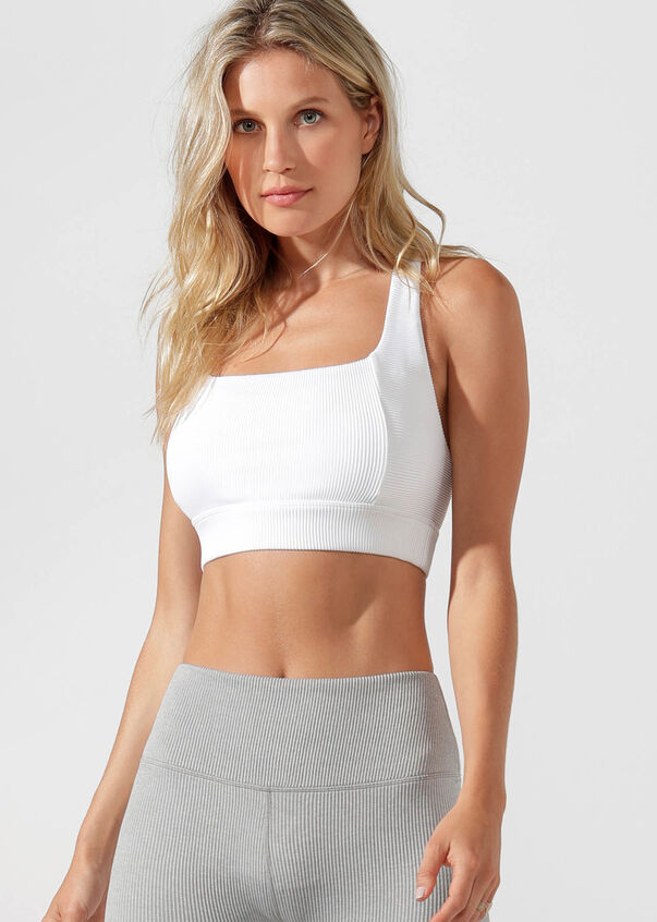 Sophia Sports Bra, White, hi-res