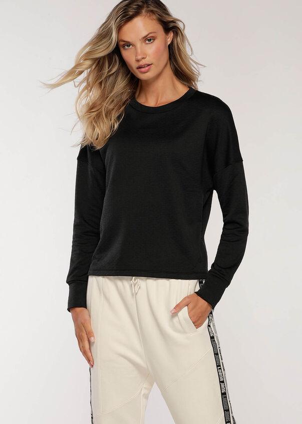 Give Me Warmth Thermal Long Sleeve Top, Black, hi-res