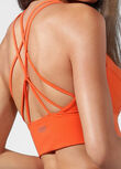 Minimal Long Line Bra, Burnt Orange, hi-res