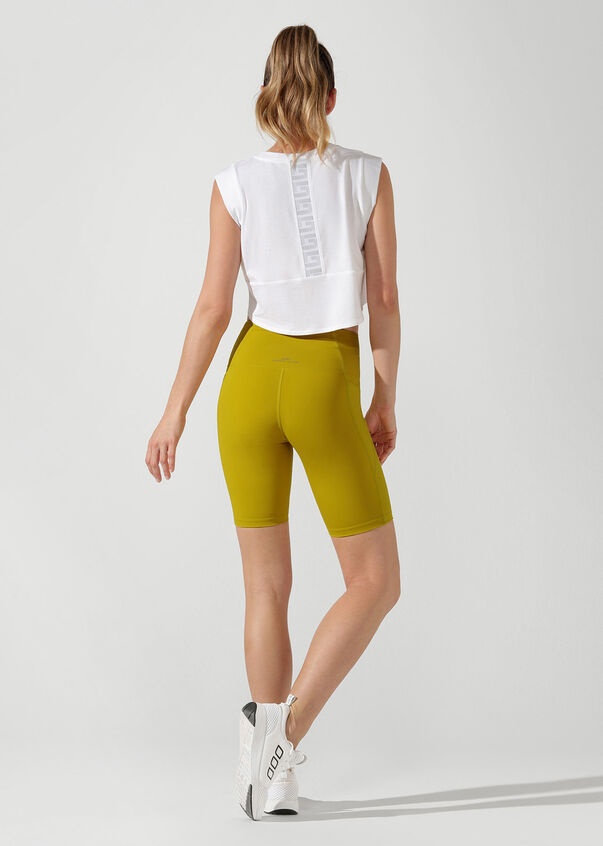 Move Easy Cropped Tank, White, hi-res