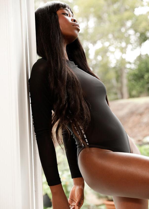 Day To Night Bodysuit, Black, hi-res