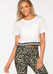 Alive Cropped Tee, White, hi-res