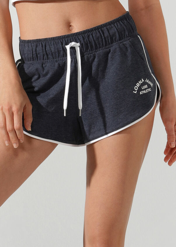 Track-Side Retro Short, Midnight Indigo Marl, hi-res