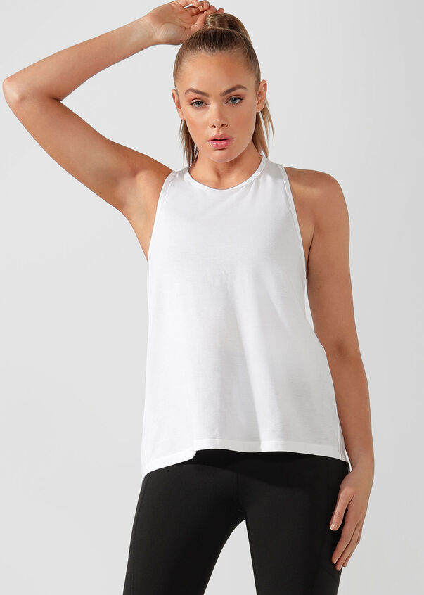 Function Open Back Active Tank, White, hi-res