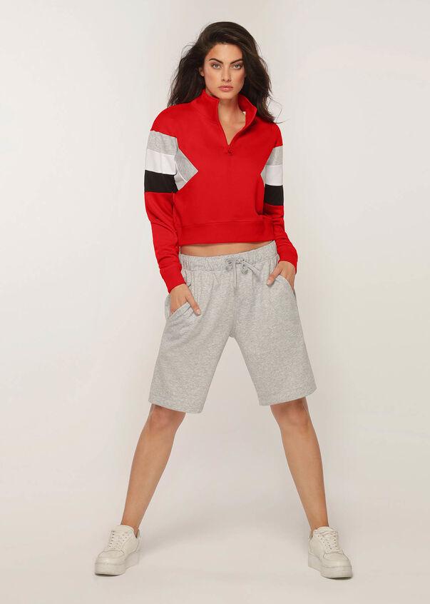 Grandstand Half Zip Sweater, Ginger, hi-res
