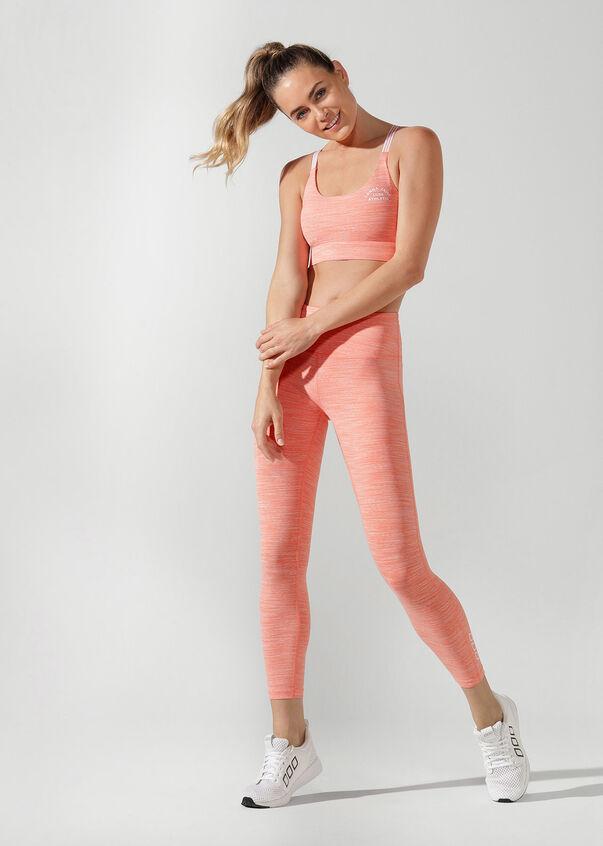 Sunset Sports Bra, Tangerine Marl, hi-res
