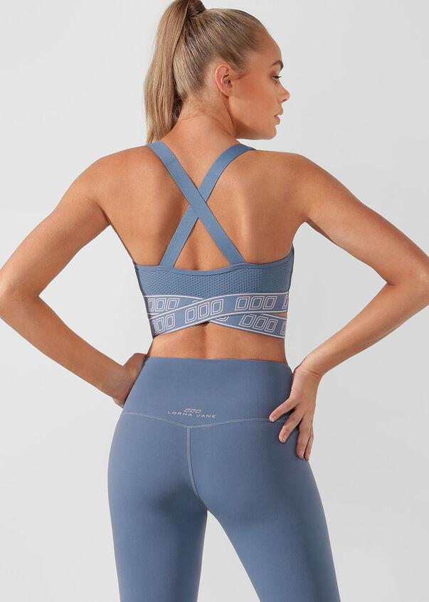 Strength Sports Bra, Steel Blue, hi-res