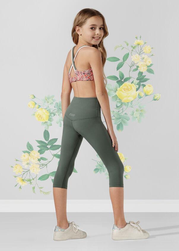 Mini Floral Sports Bra - Tween, Mini Floral Print, hi-res
